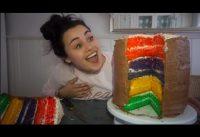 Mega Rainbow Taart maken 4