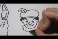 Sinterklaas & Zwarte Piet leren tekenen in stappen! 7