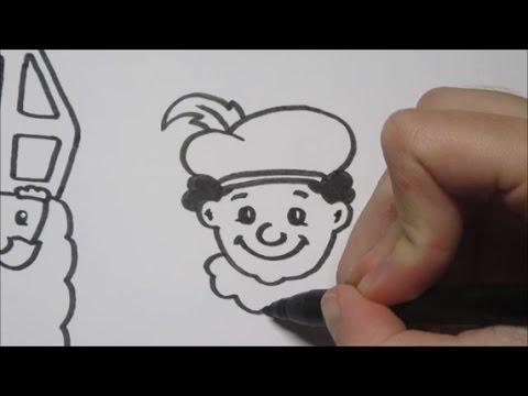 Sinterklaas & Zwarte Piet leren tekenen in stappen! 2