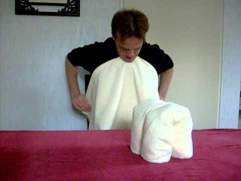 Handdoeken vouwen - olifant 3
