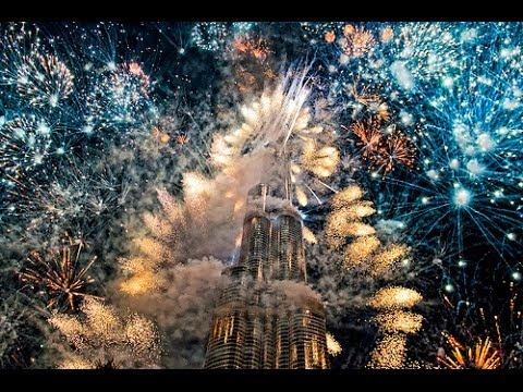 Vuurwerkshow in Dubai 2