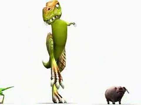 Dinosaurus en varkentje