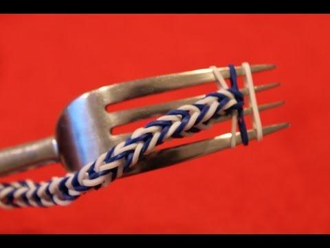 Loom, visgraat, armband, zonder loom, met vork 6