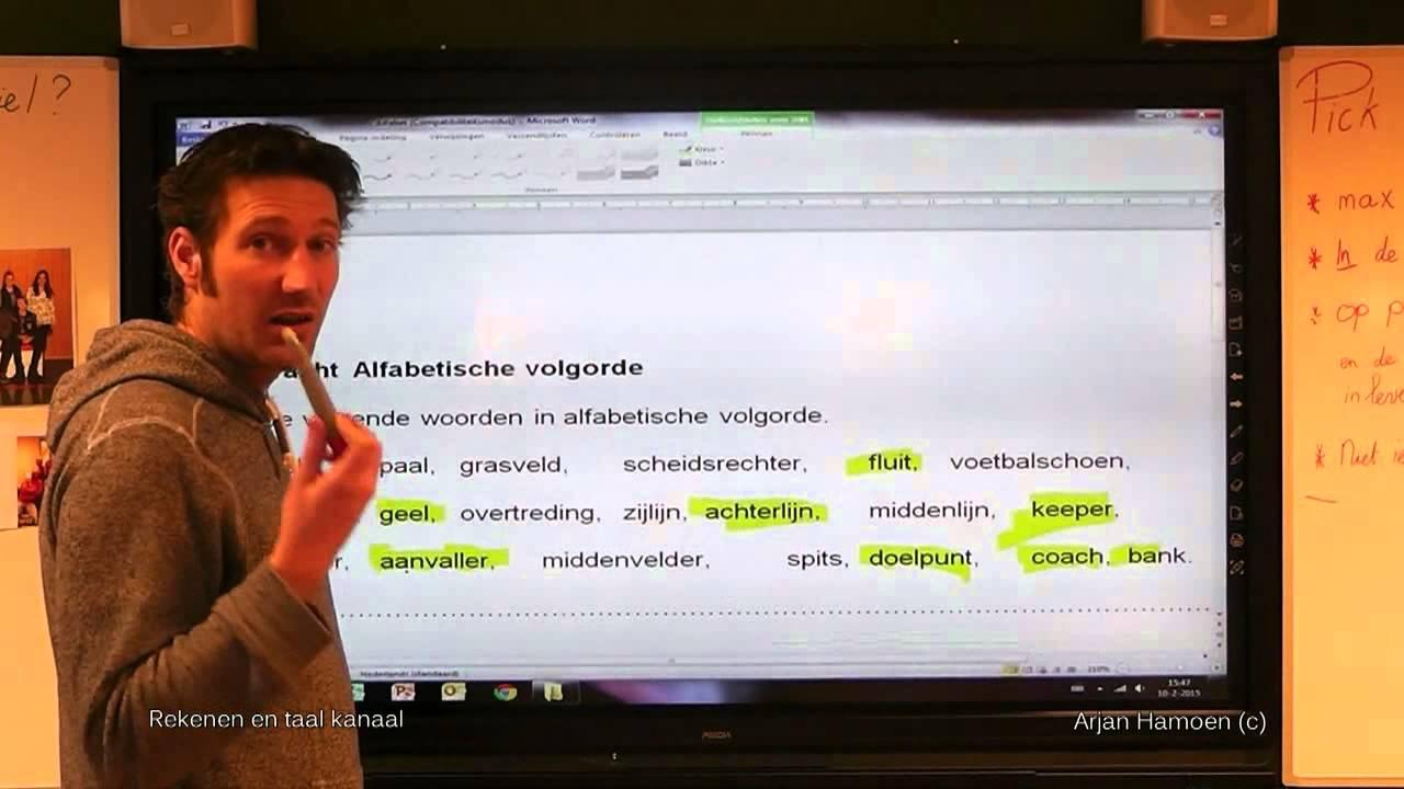 Hoe zet je woorden in alfabetische volgorde? 1