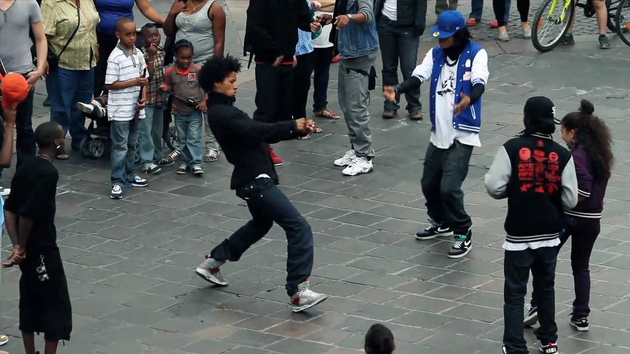 STREET BATTLE Les Twins VS. Bones The Machine+Pee Fly VS. Laura+Boubou 1