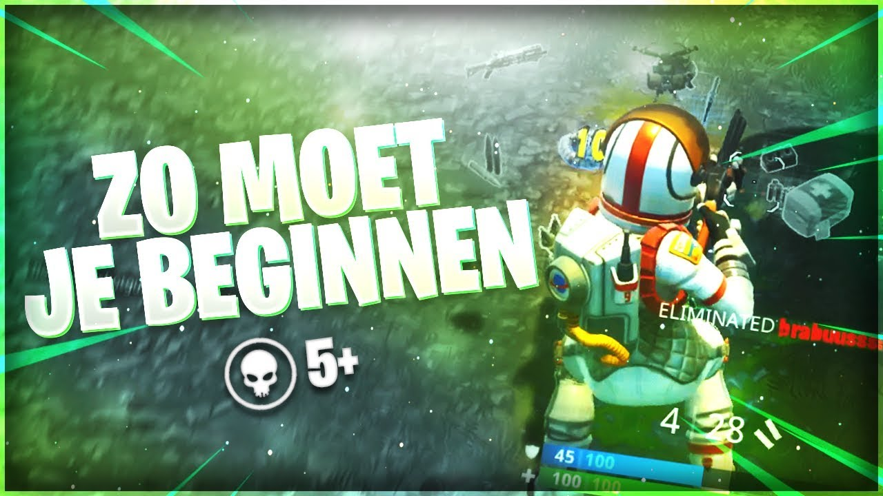 Zo begin je een Fortnite potje 1