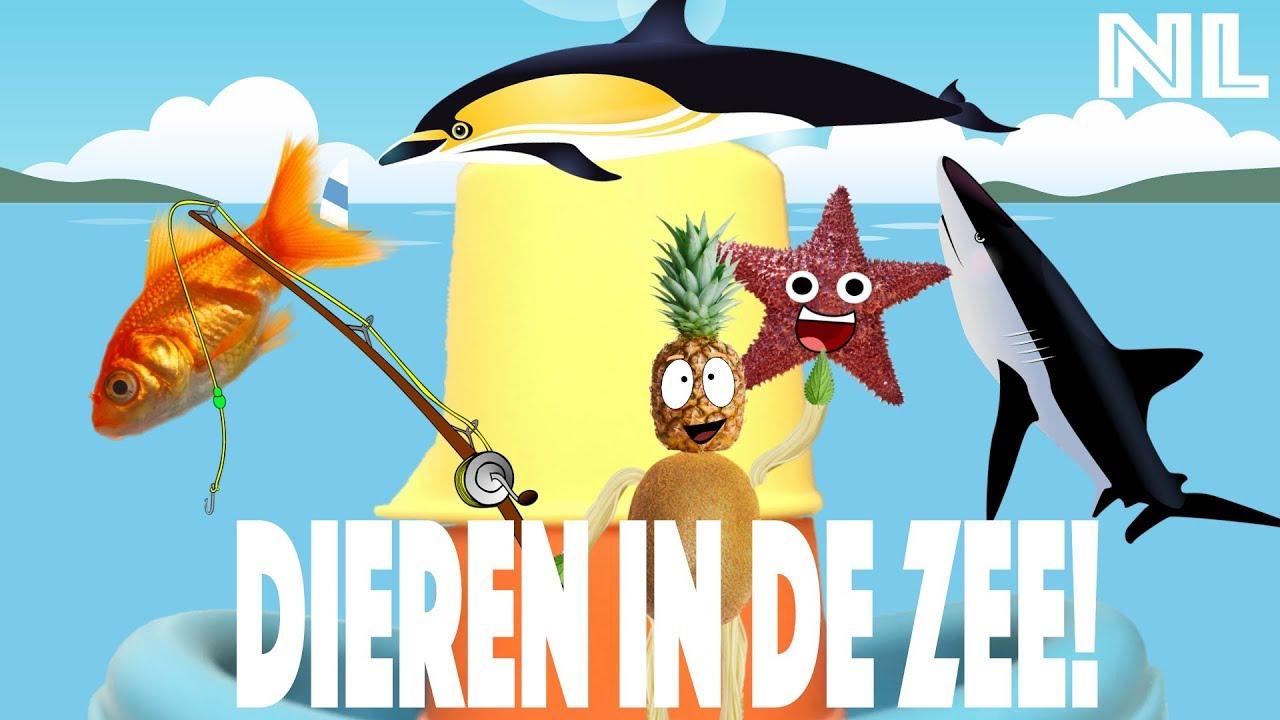 Vissen en zeedieren leren voor kinderen. 2