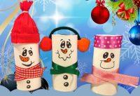 Sneeuwpoppen knutselen voor kerst 2