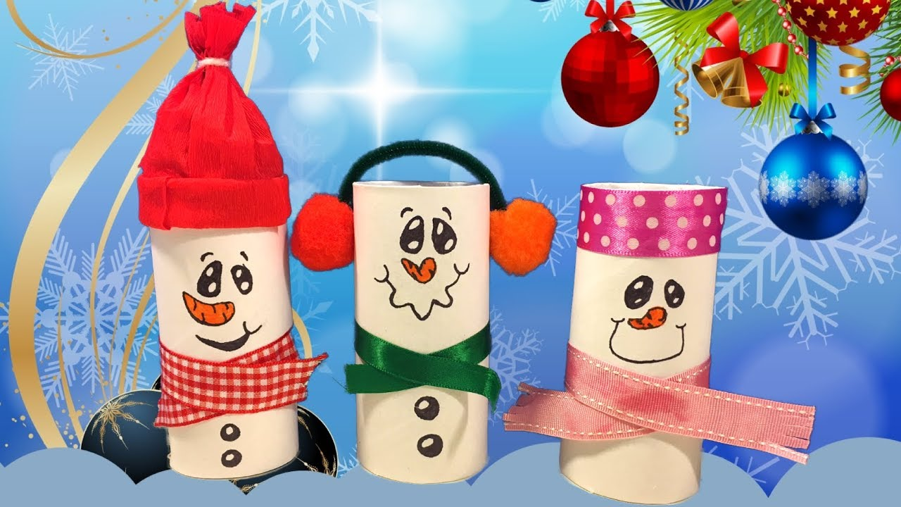 Sneeuwpoppen knutselen voor kerst 1