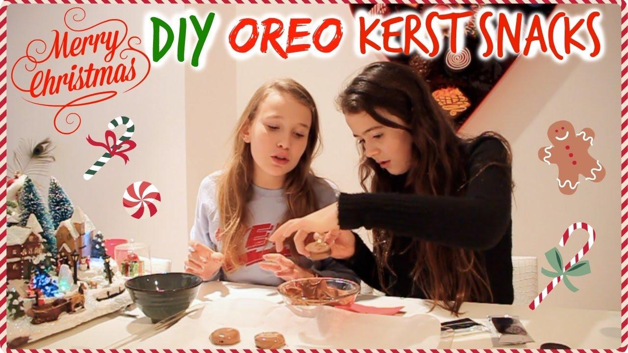 Oreo kerst snacks maken 1
