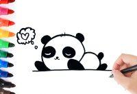 Een panda leren tekenen 11