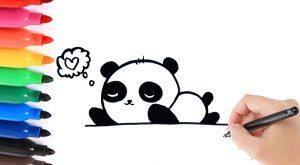 Een panda leren tekenen 4