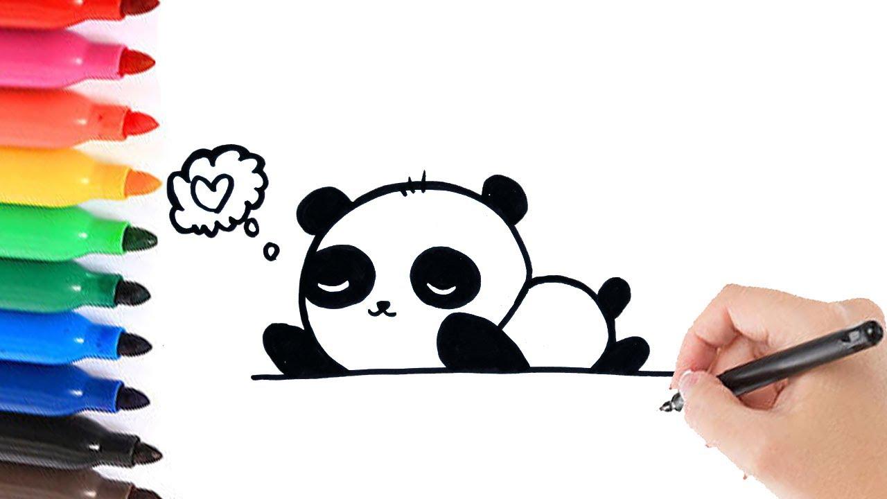 Een panda leren tekenen 2