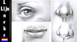 Oog, neus en mond tekenen 3